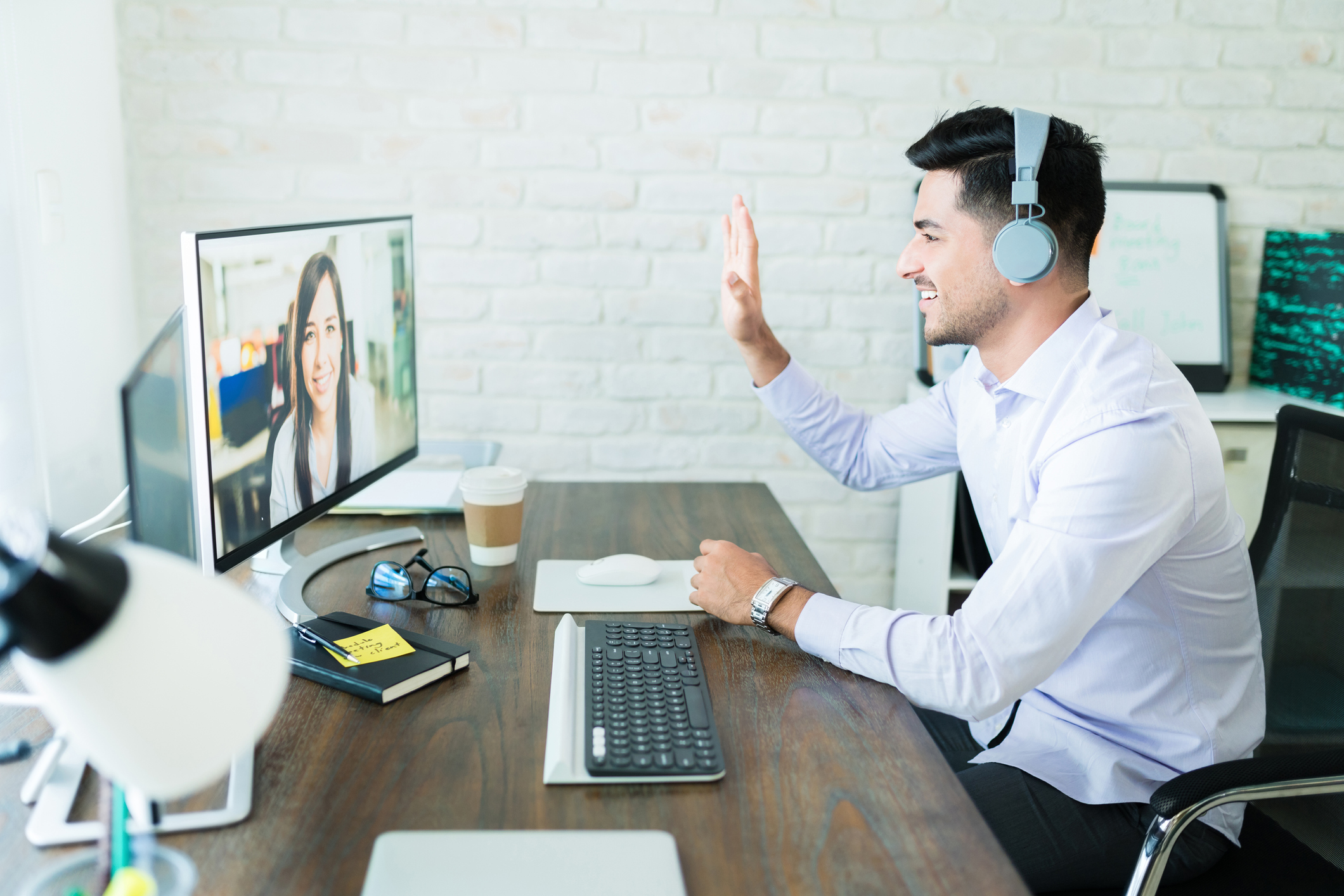 people meeting over videoconferencing